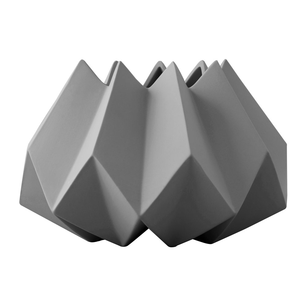 MENU - Folded Vase - Carbon