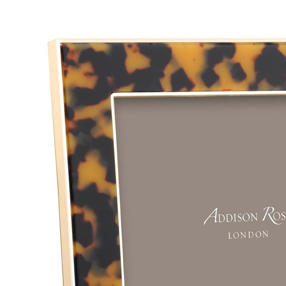 Addison Ross - Faux Tortoise Photo Frame - Gold - 4x6""
