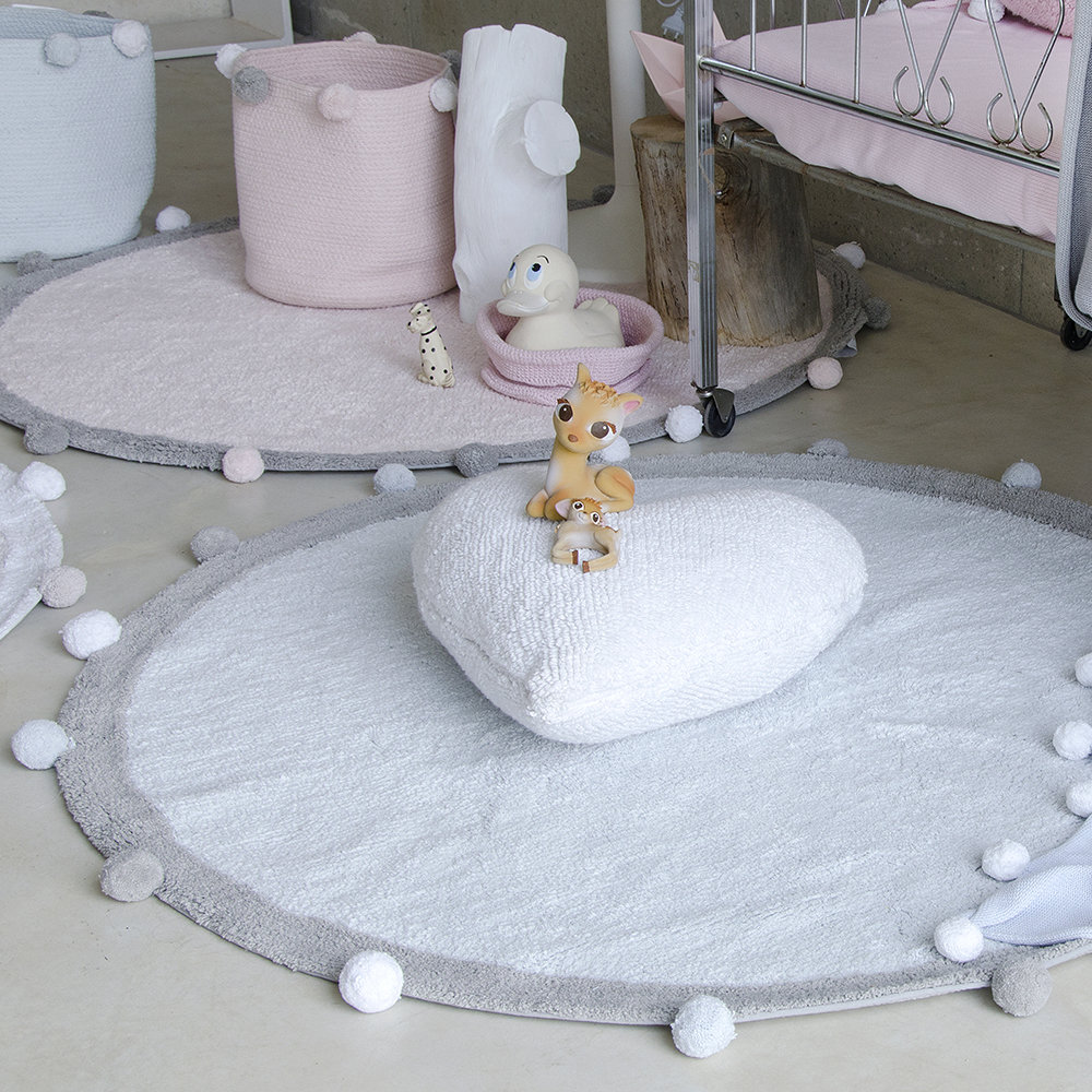 Lorena Canals - Bubbly Round Washable Rug - 120cm - Soft Blue