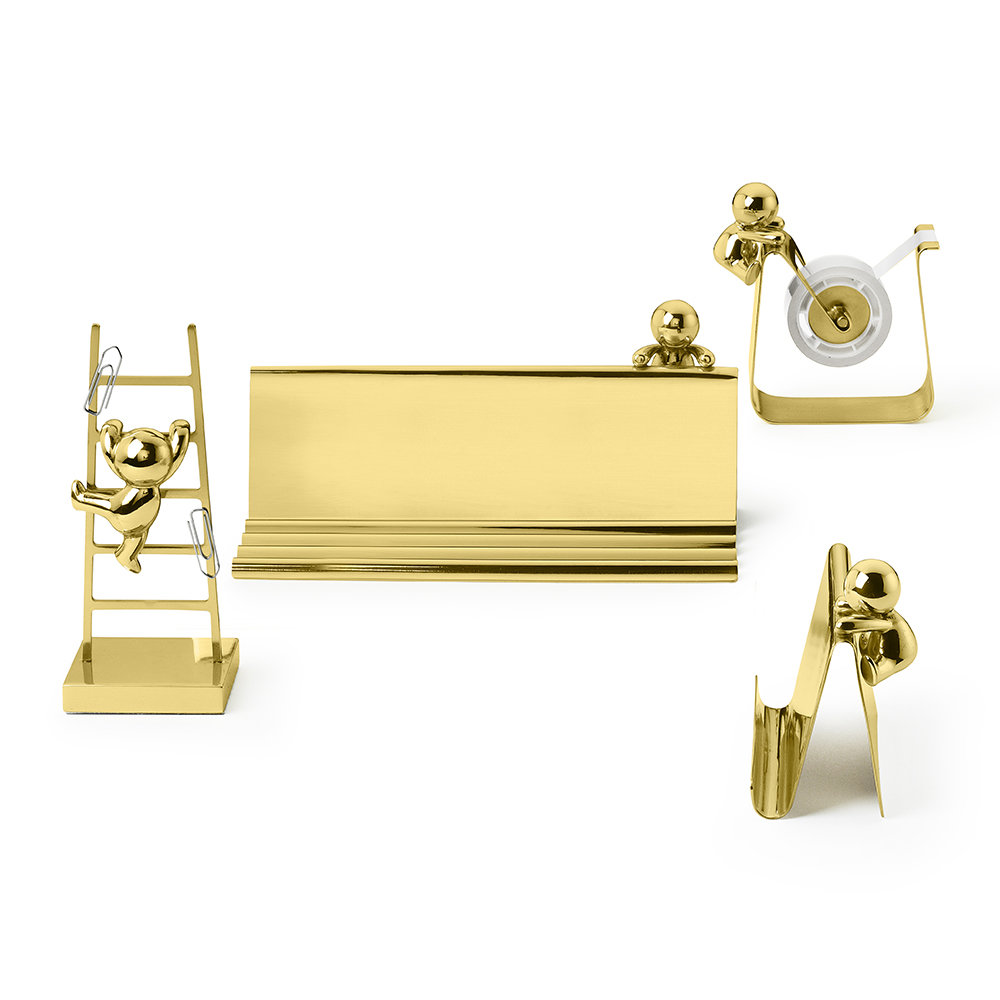 GHIDINI 1961 - Omini Pen & Card Tray - Brass