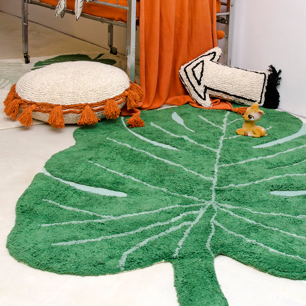 Green Kitchen Rugs Washable: Buy Lorena Canals Monstera Leaf Washable Rug