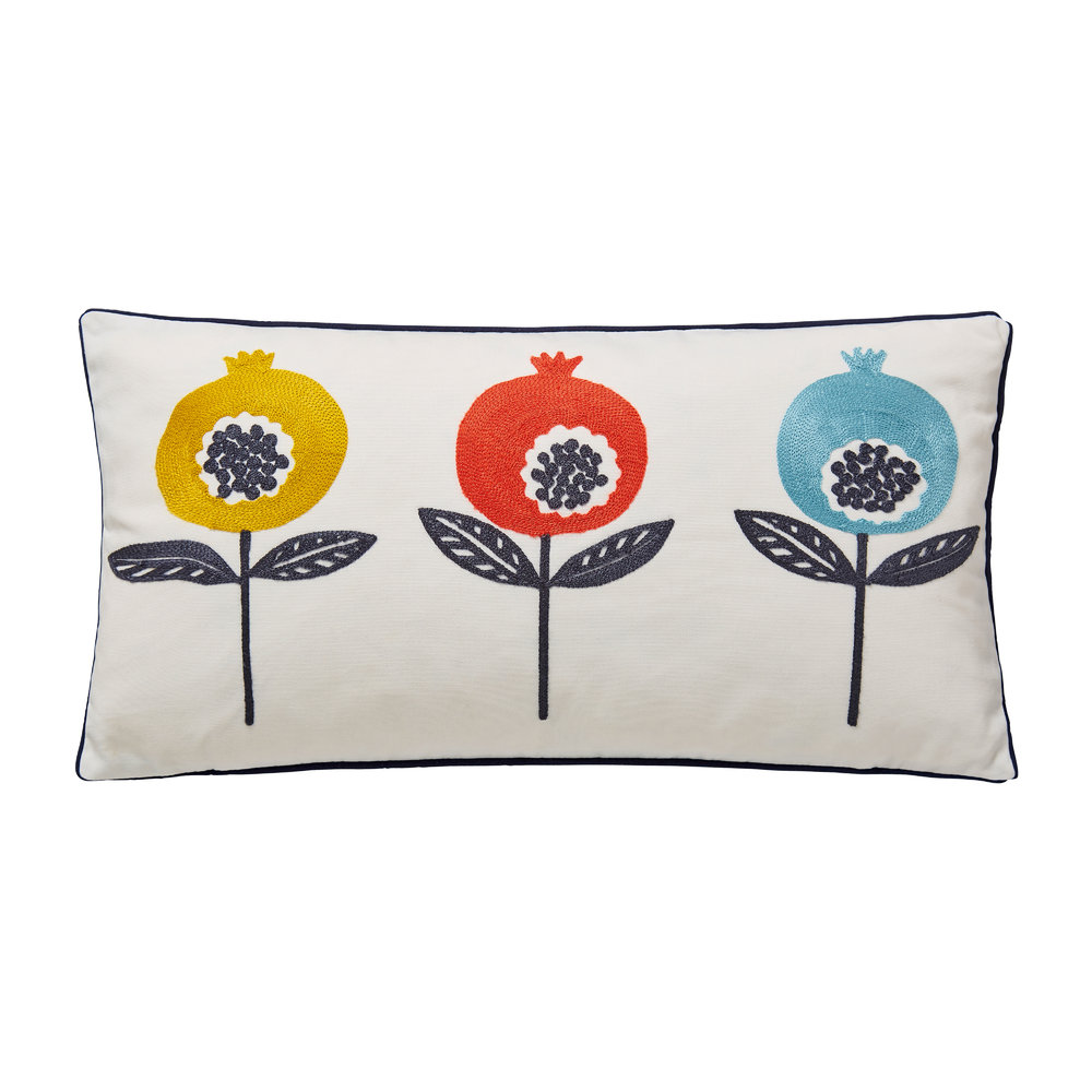 Scion  Pepino Embroidered Pillow  Ink  30x50cm
