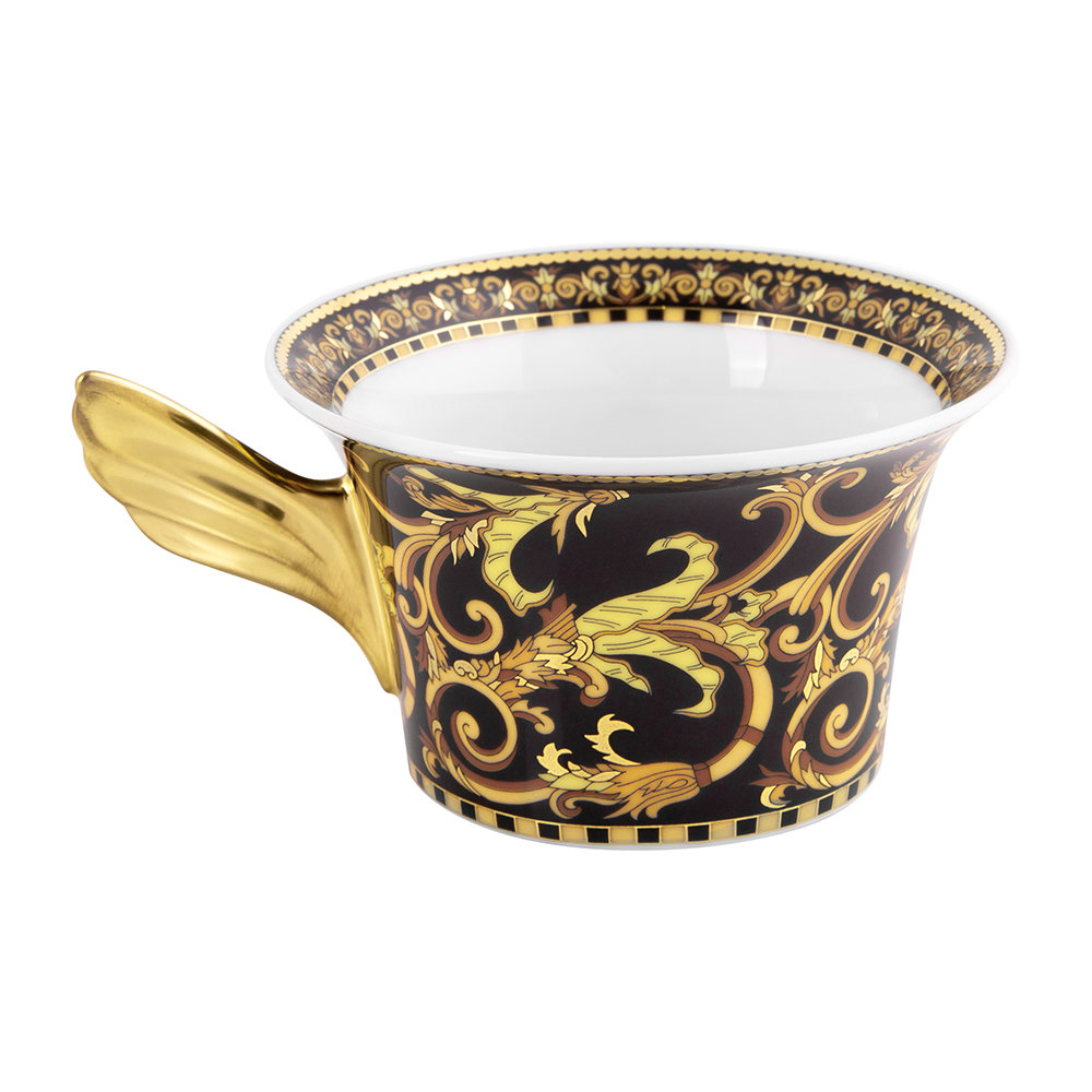 Versace Home - 25th Anniversary Barocco Teacup & Saucer - Limited Edition