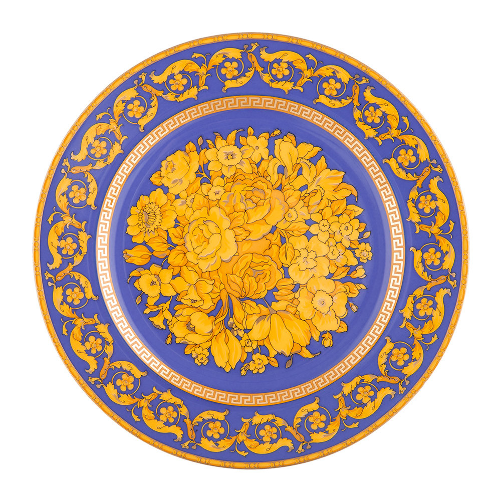 Versace Home - 25th Anniversary Floralia Blue Plate - Limited Edition