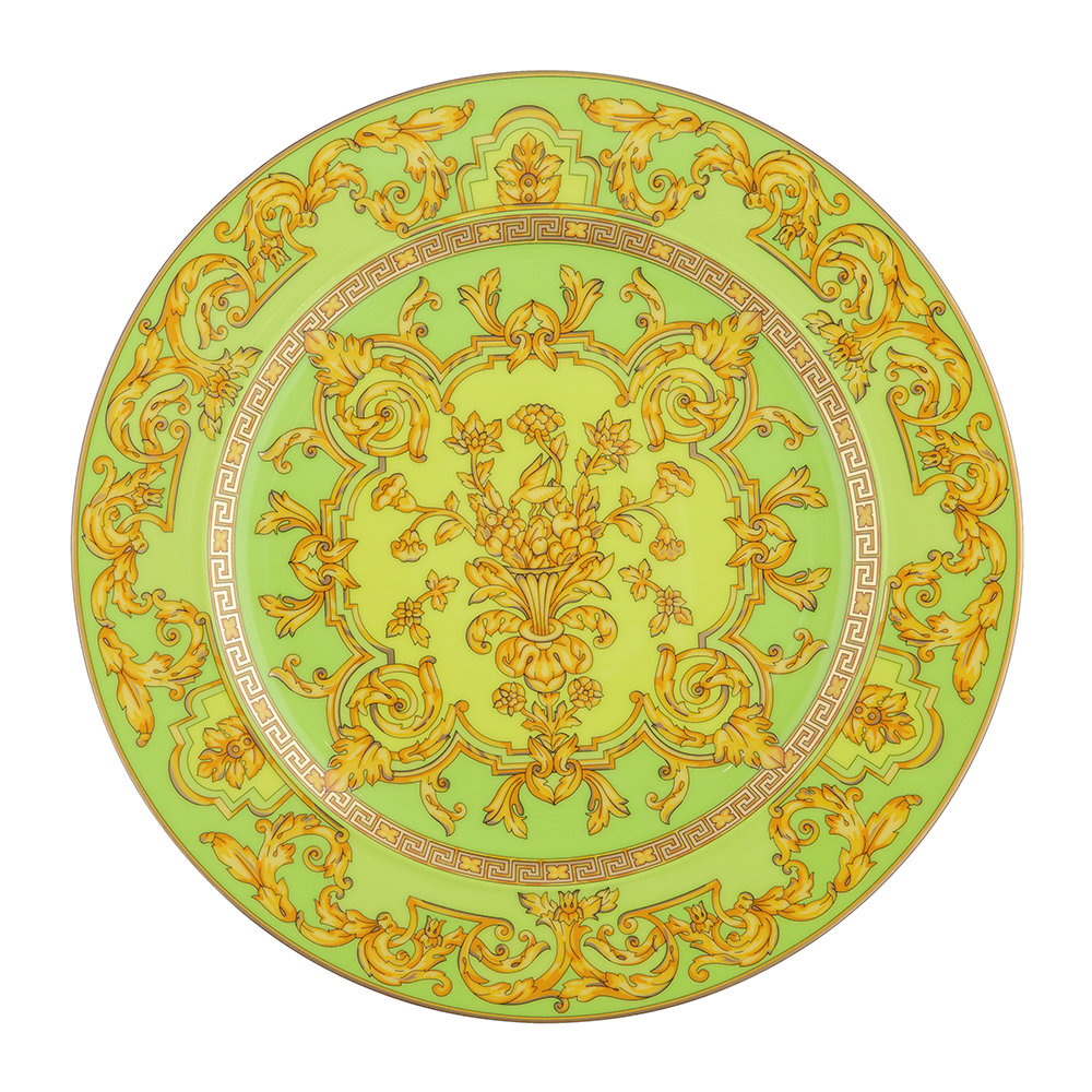 Versace Home - 25th Anniversary Floralia Green Plate - Limited Edition