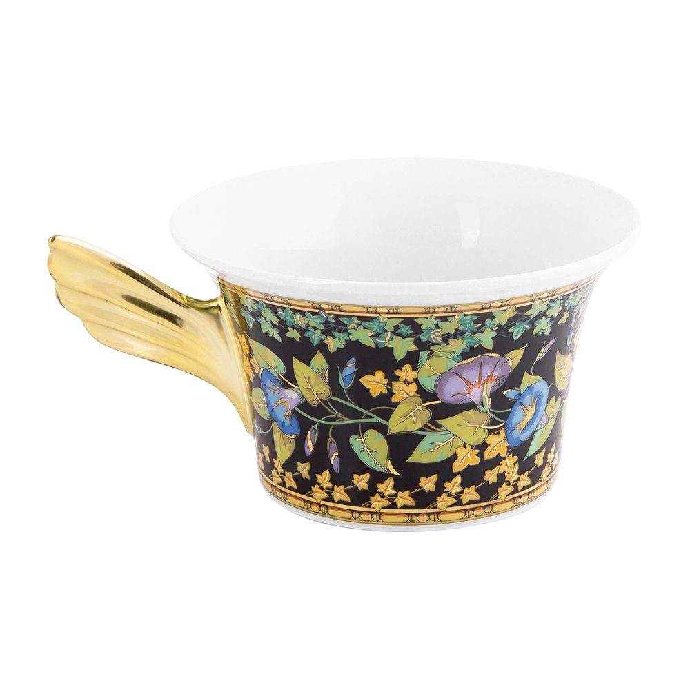 Versace Home - 25th Anniversary Gold Ivy Teacup & Saucer - Limited Edition