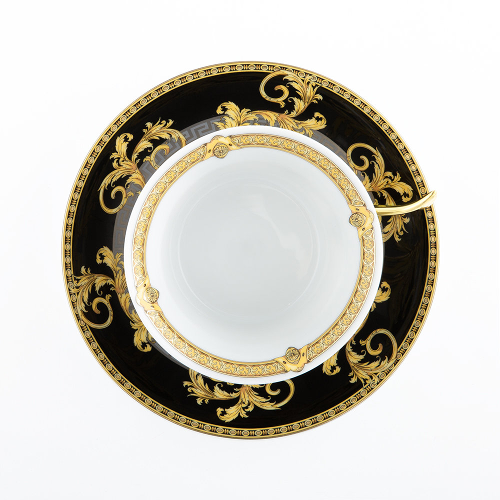 Versace Home - 25th Anniversary Prestige Gala Teacup & Saucer - Limited Edition