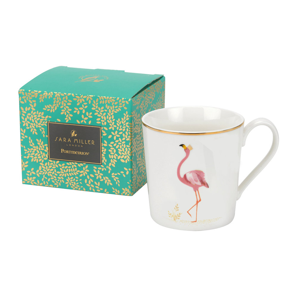 Sara Miller - Piccadilly Collection Becher - Flamboyant Flamingo