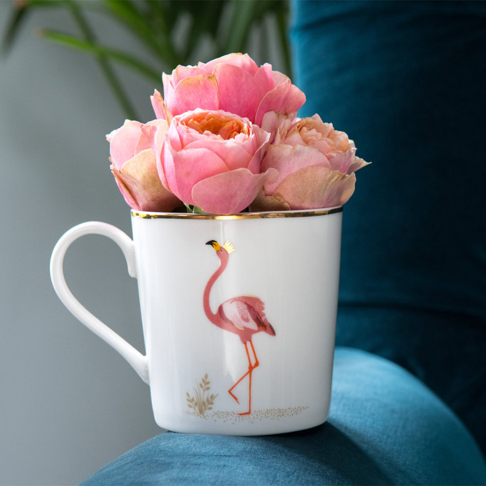 Sara Miller - Piccadilly Collection Mug - Flamboyant Flamingo