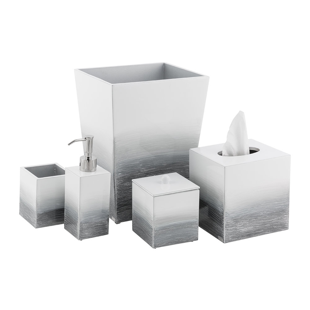 Mike + Ally - Ombre Waste Bin - Grey/Silver