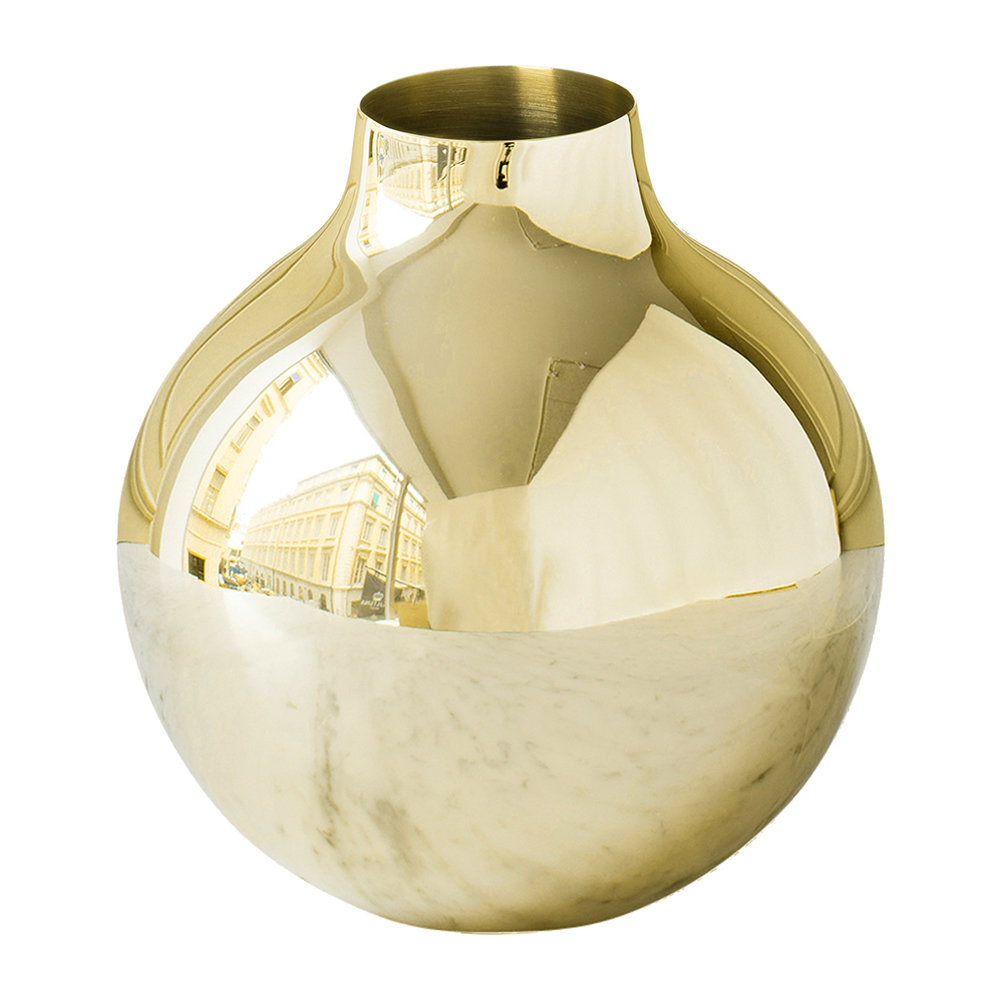 Skultuna - Boule Gold Vase - Extra Small