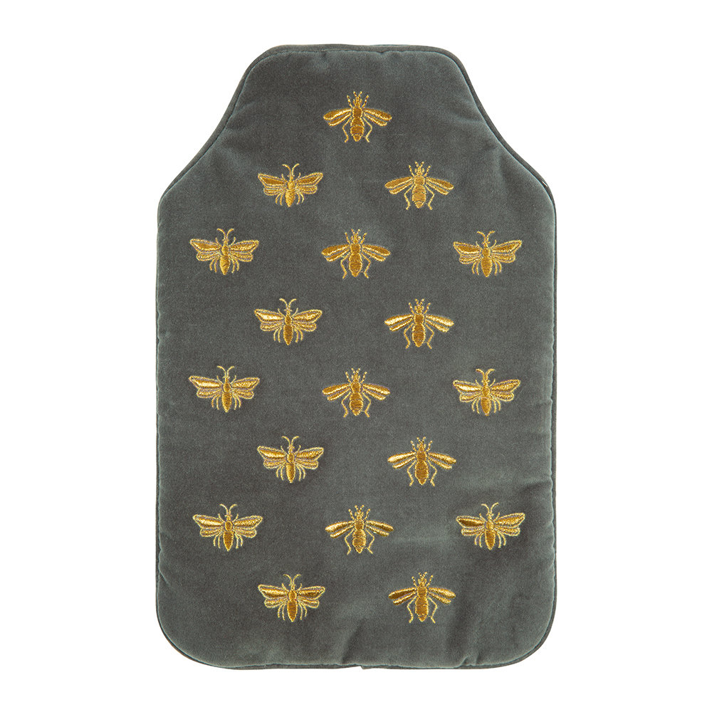 Elizabeth Scarlett - Amara X ES Velvet Bee Hot Water Bottle - Charcoal
