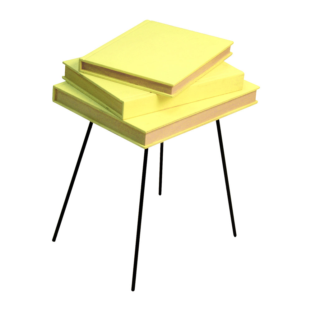 Valsecchi 1918 - Fairytale Side Table with Hidden Trinket Tray - Yellow