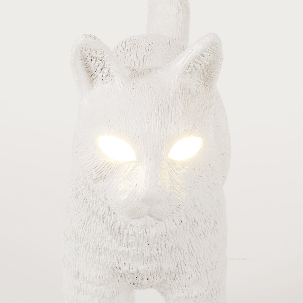 Seletti - Jobby the Cat Rechargeable Lamp - White