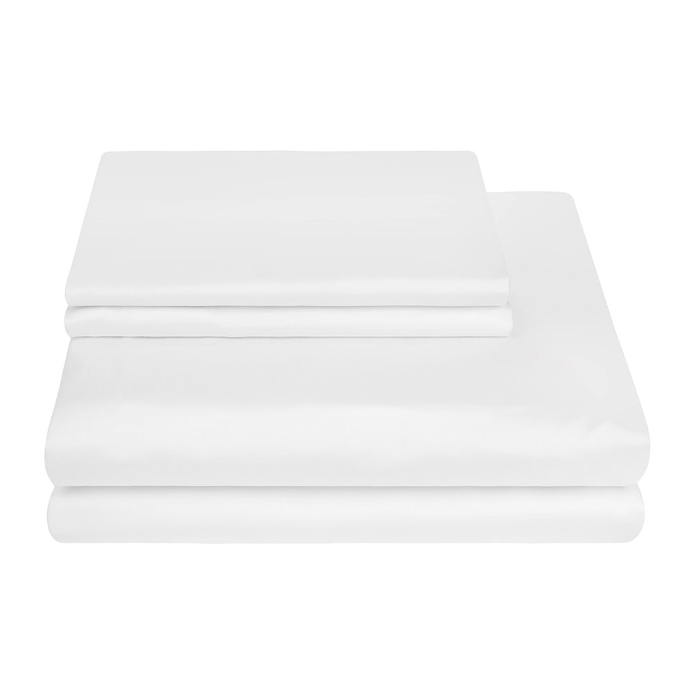 A by AMARA - 500 Thread Count Sateen Quilt Cover - White - King