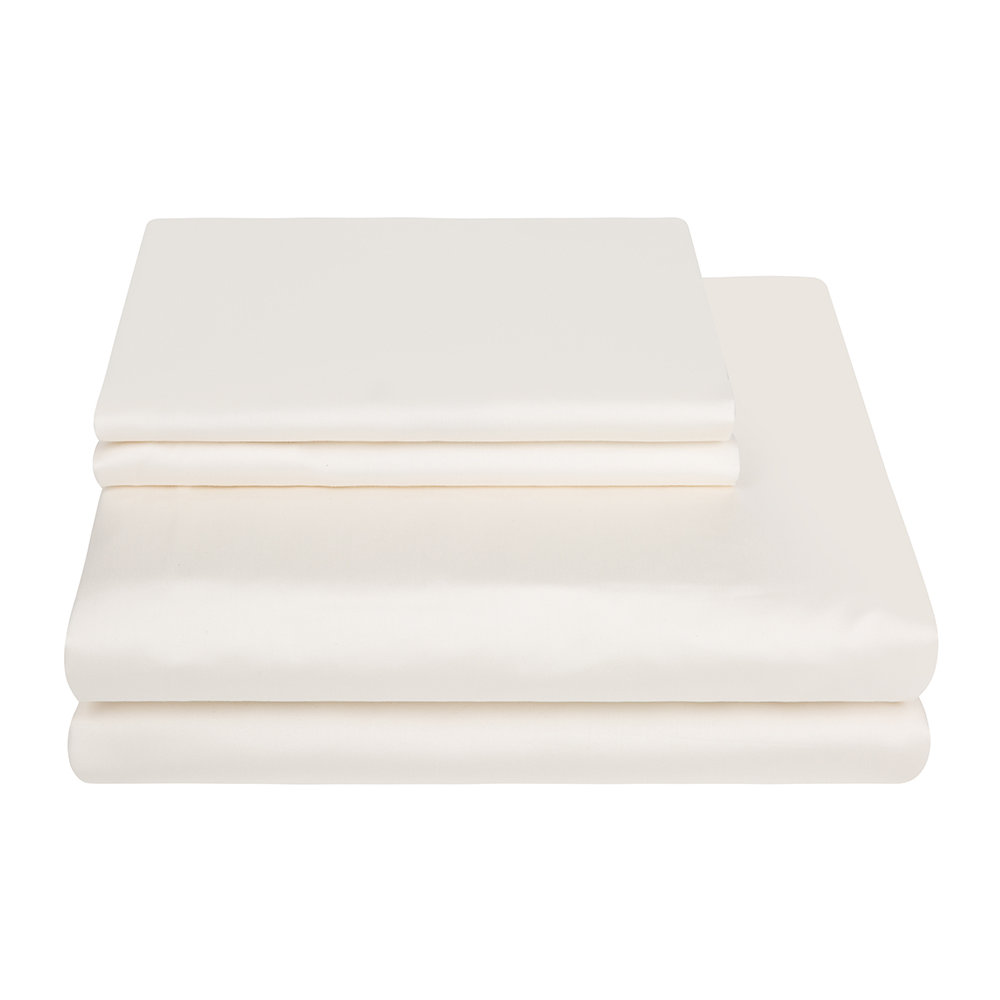 A by AMARA - Egyptian Cotton Duvet Cover - Ivory - Super King