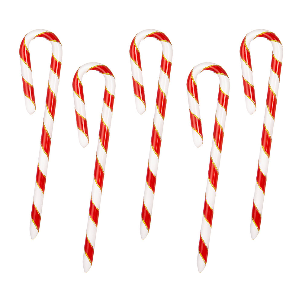Bombki - Little Candy Canes Tree Decoration - Set of 5