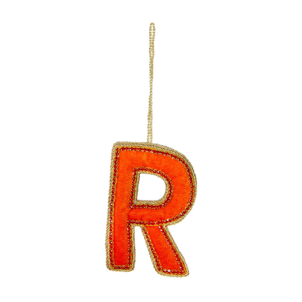 Tinker Tailor - Letter Christmas Tree Decoration - R
