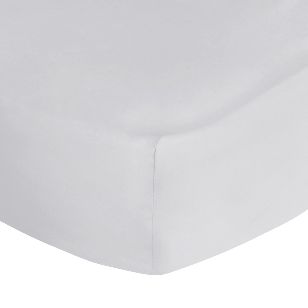 A by AMARA - Egyptian Cotton Fitted Sheet - Silver - Super King