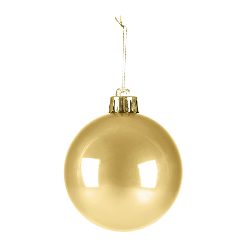 A by AMARA Christmas - Set of 30 Assorted Baubles - Light Gold