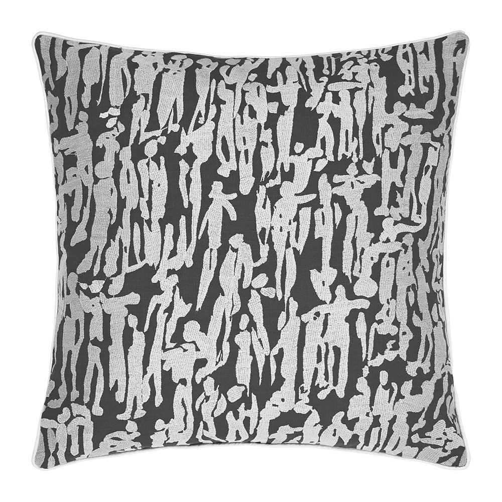 Harlequin  People Pillow  Charcoal  40x40cm