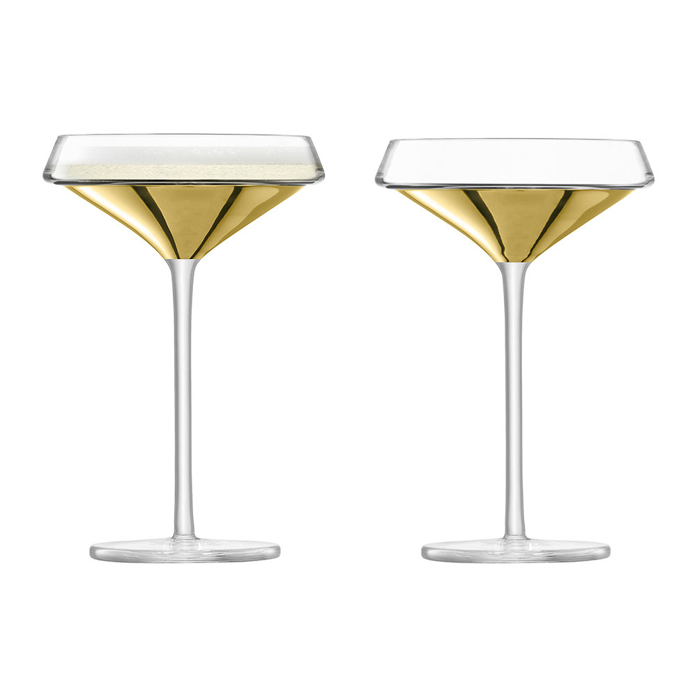LSA International - Space Champagne/Cocktail Glass - Set of 2 - Gold