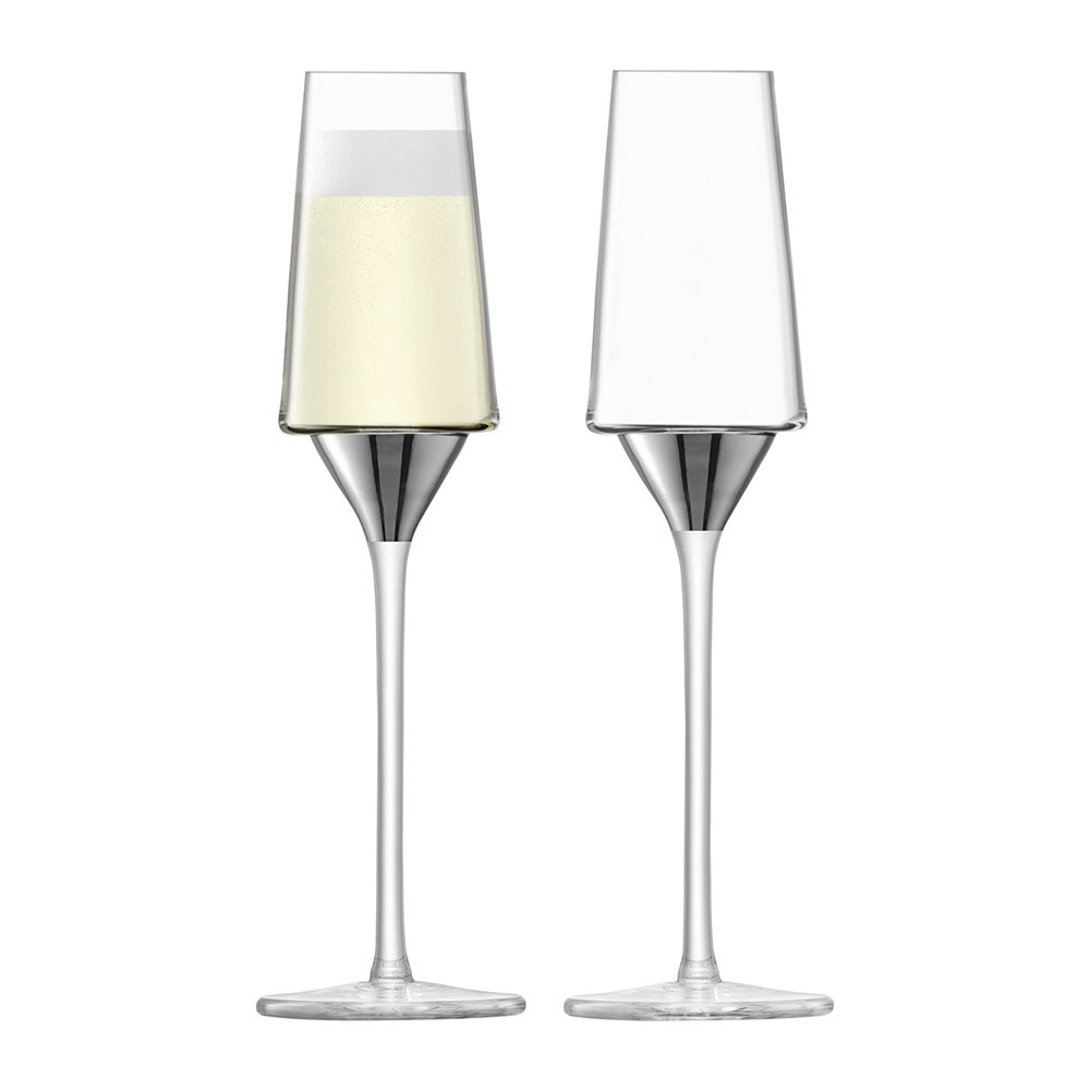 LSA International - Space Champagne Flute - Set of 2 - Platinum
