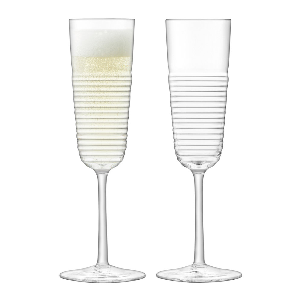 LSA International - Groove Champagne Flute - Set of 2