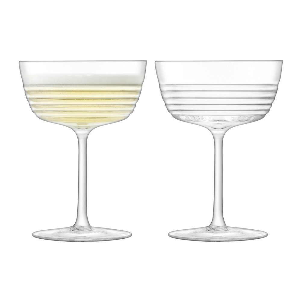 LSA International - Groove Champagne/Cocktail Glass - Set of 2