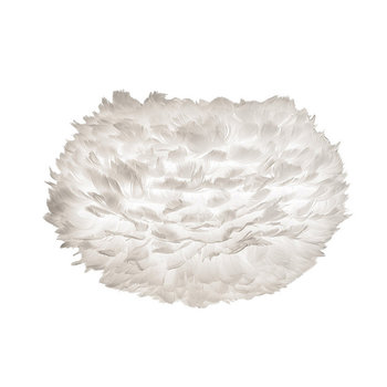 Eos Feather Lamp Shade - White - Medium