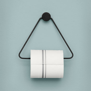 Support Papier Toilette Noir