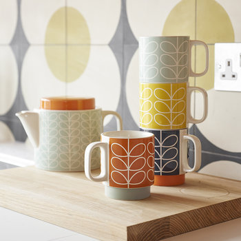 Linear Stem Stacking Mugs - Set of 4