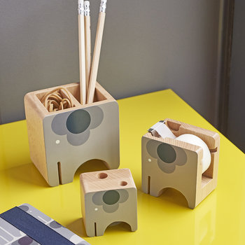 Wooden Desk Set - Ela Elephant