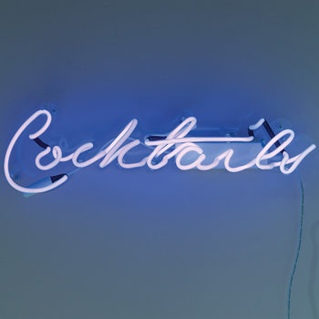 Blue 'Cocktails' Neon Light
