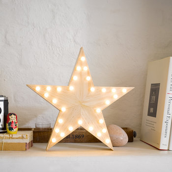LED Wooden Star Light