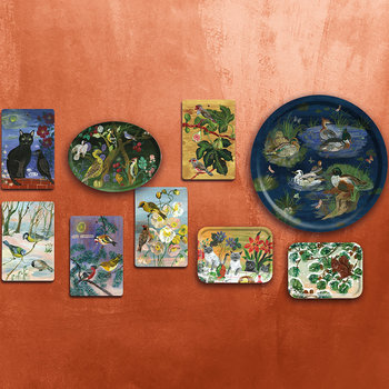 Nathalie Lété In The Garden Of My Dreams Oval Tray - Who's Nest?