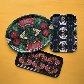 Patch NYC Flora Tray - Narrow - Cabbage Rose