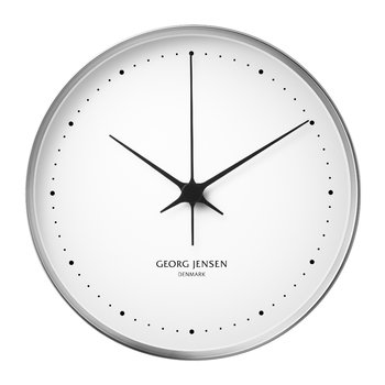 Henning Koppel Clock - 30cm - White/Stainless Steel