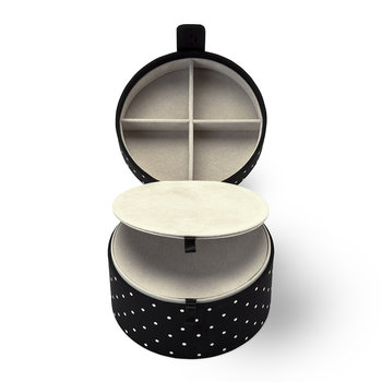 Travel Jewelry Organizer - Black Dot