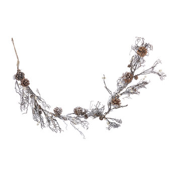 Twig Garland with Snow - Winter White
