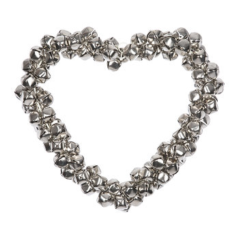 Heart Hanging Decoration - Silver