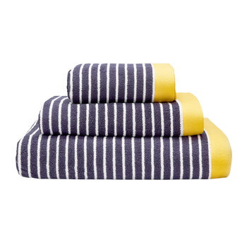 Kensington Stripe Towel - Navy