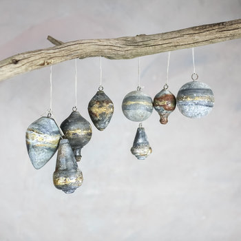 Abari Bauble - Set of 4 - Aged Zinc