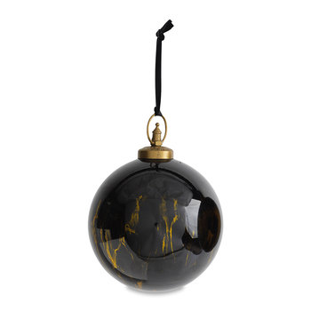 Danoa Giant Bauble - Aged Amber & Black