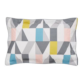 Nuevo Oxford Pillowcase - Blush & Charcoal