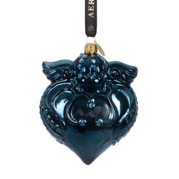 Imperial Heart Tree Decoration - Blue
