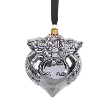 Imperial Heart Tree Decoration - Silver