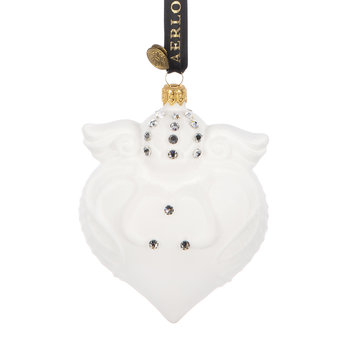 Imperial Heart Tree Decoration - White