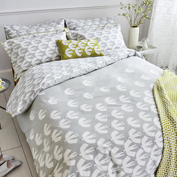 Pajaro Duvet Cover - Steel