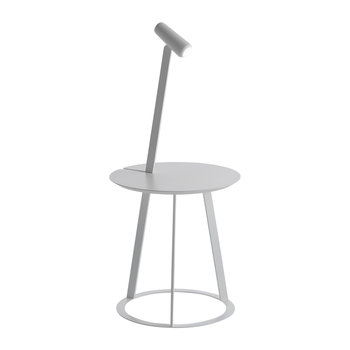 Albino Side Table & Lamp - White